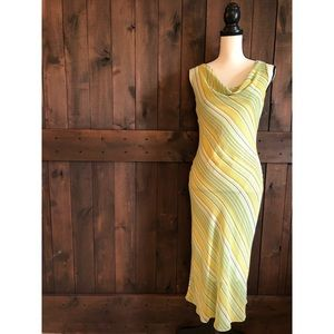 ZARA BASIC Citrus Stripe Dress